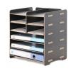 88 6层文件架横放桌面多层a4资料收纳办公用品木质创意置物架